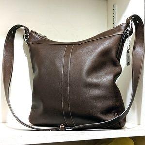 Vtg Chocolate Brown Coach Legacy Bag